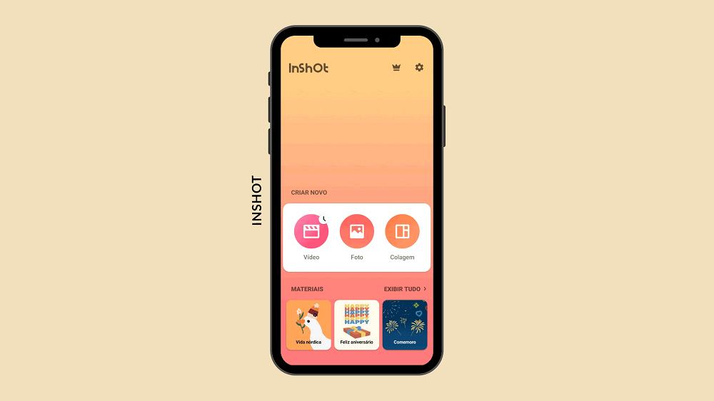 Inshot possui várias funcionalidades, desde edição de vídeos até colagem de fotos.